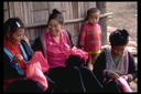 Hmong village women sewing Thailand 1986